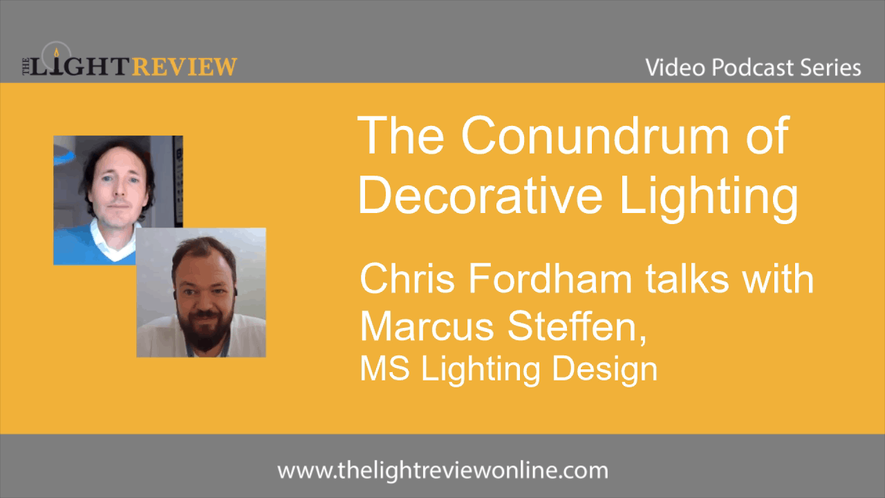 The Conundrum of Decorative Lighting: Marcus Steffen